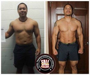 Jordan's got a 1 year old at home and a baby on the way this month, so he was looking to increase his energy and get back in shape. He certainly did that!