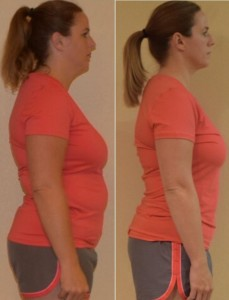 Amy lost almost 15 pounds during the Total Transformation Contest.
